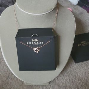 Coach sig heart necklace boxed firm its beautiful